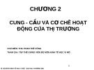 Bài giảng Kinh tế học vi mô I: Chương 2 - ThS. Phan Thế Công