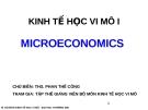 Bài giảng Kinh tế học vi mô I: Chương 1 - ThS. Phan Thế Công