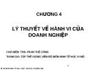 Bài giảng Kinh tế học vi mô I: Chương 4 - ThS. Phan Thế Công