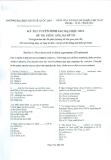 Đề thi tuyển sinh sau Đại học môn Tiếng Anh 2012 - ĐH Kinh tế Quốc dân