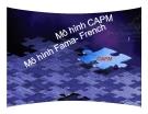 Thuyết trình: Mô hình CAPM  - Mô hình Fama - French