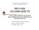 Thuyết trình: Các vấn đề cơ bản về tỷ giá hối đoái, chính sách tỷ giá hối đoái và liên hệ Việt Nam