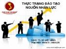 Thuyết trình: Thực trạng đào tạo nguồn nhân lực tại công ty TNHH SX-TM-SV Hoa Đất Việt