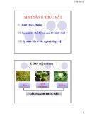Bài giảng Sinh học đại cương: Chương 6 - GV. Nguyễn Thành Luân