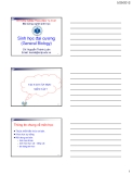 Bài giảng Sinh học đại cương: Chương 1 - GV. Nguyễn Thành Luân