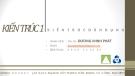 Bài giảng Kiến trúc dân dụng: Chương I - ThS. Kts Dương Minh Phát