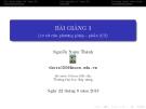 Bài giảng Phương pháp phần tử hữu hạn: Bài giảng 3 - GV. Lê Xuân Thành