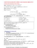 Chuyên đề giải phương trình và bất phương trình vô tỉ