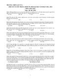 Một số vấn đề trọng điểm ôn thi Đại học môn Hóa học năm học 2012 - 2013 - Trường THPT Lấp Vò 1
