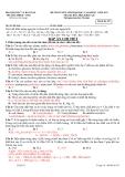 Đáp án chi tiết đề thi tuyển sinh Đại học, Cao đẳng môn Hóa học khối A, B năm 2013 - Trường ĐHKH Huế