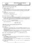 Đề thi thử Đại học môn Toán năm 2013 - Đề số 3 (kèm đáp án)