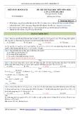 Đáp án đề thi thử Đại học môn Hóa học lần 2, năm 2012-2013