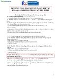 Phương pháp giải một số dạng bài tập khảo sát hàm số trong kỳ thi tuyển sinh Đại học
