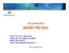 Bài giảng Quản trị học - ThS. Nguyễn Văn Minh