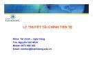Bài giảng Lý thuyết tài chính tiền tệ - ThS. Nguyễn Văn Minh