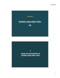 Bài giảng Kiến trúc dân dụng và nhà ở: Chương 4 (tt)