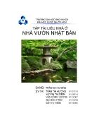 Báo cáo tập tài liệu nhà ở: Nhà vườn Nhật Bản