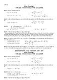 5 Đề thi học kì 2 môn Toán lớp 8