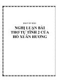 Nghị luận bài thơ Tự tình 2 của Hồ Xuân Hương