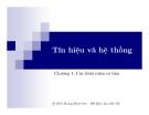 Bài giảng Tín hiệu và hệ thống - Hoàng Minh Sơn