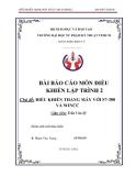 Báo cáo môn Điều khiển lập trình 2 - Đề tài: Điều khiển thang máy với S7 - 300 và WinCC
