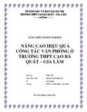 SKKN: Nâng cao hiệu quả công tác văn phòng ở trường THPT Cao Bá Quát – Gia Lâm
