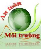 Tài liệu Kỹ thuật an toàn môi trường
