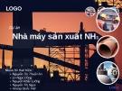 Thuyết trình: Dự án nhà máy sản xuất NH3