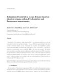 Estimationof biochemical oxygen demand based on dissolved organic carbon, UV absorptionand fluorescence measurements