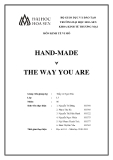 Đề án môn Kinh tế vi mô: Handmade - The way you are