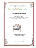 SKKN: Những giải pháp để nâng cao chất lượng giáo dục tại trường THPT An Minh