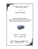 SKKN: Thực hành tiết kiệm trong tổ chức kiểm tra đánh giá học sinh ở trường trung học