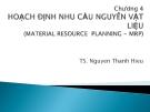 Bài giảng Quản trị tác nghiệp: Chương 4 - TS. Nguyễn Thành Hiếu
