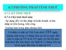 Bài giảng Thuế - Phương pháp tính thuế