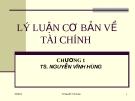 Bài giảng Thị trường tài chính: Chương 1 - TS. Nguyễn Vĩnh Hùng