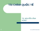 Bài giảng Thị trường tài chính: Chương 13 - TS. Nguyễn Vĩnh Hùng