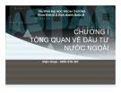 Bài giảng Đầu tư nước ngoài: Chương 1 - Đinh Hoàng Minh