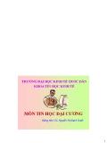 Bài giảng Tin học đại cương: Chương 5 - TS. Nguyễn Thị Bạch Tuyết
