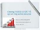 Bài giảng Quản trị kinh doanh: Chương 5 - GV. Dương Công Doanh