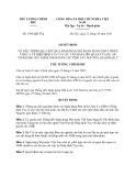 Quyết định 1943/QĐ-TTg năm 2013