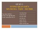 Tiểu luận: Tương quan giữa Six Sigma –TQM – ISO 9000