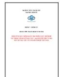 """Tiểu luận: Phân tích quy trình quản trị chiến lược thể hiện tác phẩm """"Bình Ngô đại cáo"""" của Nguyễn Trãi và bài học rút ra cho các doanh nghiệp Việt Nam"""