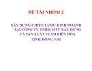 Tiểu luận: Xây dựng chiến lược kinh doanh tại công ty TNHH MTV xây dựng và sản xuất VLXD Biên Hòa tỉnh Đồng Nai