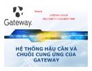 Tiểu luận: Hệ thống hậu cần và chuỗi cung ứng của Gateway