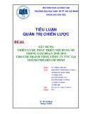 Tiểu luận: Xây dựng chiến lược phát triển nội dung số trong giai đoạn 2010-2014 cho chi nhánh tổng công ty VTC tại thành phố Hồ Chí Minh