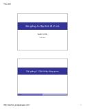 Bài giảng Ôn tập kinh tế vi mô - Nguyễn Hoài Bảo