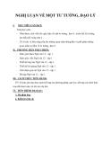 Giáo án Ngữ văn 12 tuần 1: Nghị luận về một tư tưởng đạo lý