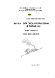 Sách hướng dẫn giáo viên - Mô đun: Sửa chữa và bảo dưỡng hệ thống lái - NXB Hà Nội
