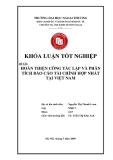 Khóa luận tốt nghiệp: Hoàn thiện công tác lập và phân tích báo cáo tài chính hợp nhất ở Việt Nam