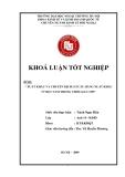 Khóa luận tốt nghiệp: Xuất khẩu và chuyển dịch cơ cấu hàng xuất khẩu ở Việt Nam trong thời gian tới
